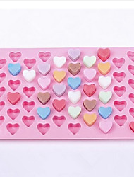 55 Cavity Heart Shaped Silicone Cake Mold Chocolate Mould (Random Color)
