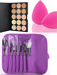 billige Concealer & kontur-Kaki Concealer / Contour Sminkebørster 7 pcs Tørr / Kombinasjon / Oljete Concealer Sminke kosmetisk