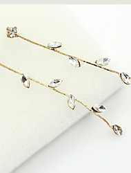 Dråbeøreringe Krystal Rhinsten Guldbelagt 18K guld Imitation Diamond Mode Guld Smykker 2 Stk.