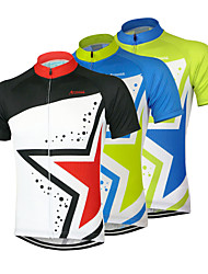 cheap -Arsuxeo Men's Short Sleeves Cycling Jersey - Black Green Blue Bike Jersey, Quick Dry, Anatomic Design, Breathable