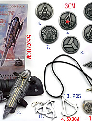 Jewelry / Badge Inspirirana Assassin Creed Ezio Anime / Video Igre Cosplay Pribor Ogrlice / Rukavicama / Badge / Broš Crna Alloy / PVC