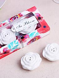cheap -In Bloom Ceramic Flower Salt and Pepper Shakers