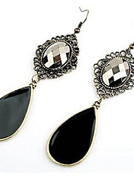 cheap -Women's Drop Cubic Zirconia Drop Earrings - Bohemian Black Earrings For