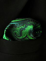 Недорогие -мужская сторона случайный район галстук карманные квадраты - цветной блок Пейсли, основной