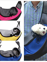 cheap -Cat Dog Carrier & Travel Backpack Front Backpack Pet Baskets Solid Portable Breathable Yellow Red Green Blue For Pets