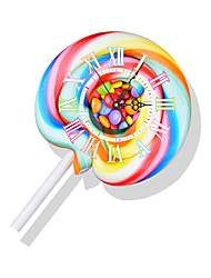 cheap -Modern/Contemporary Houses 3D Wall Clock Colorful Sweet Indoor Clock