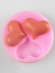 molde do bolo fondant de chocolate em forma de silicone três amor, ferramentas de decoração bakeware