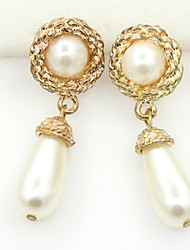 cheap -Women's Stud Earrings Drop Earrings Crystal Fashion European Pearl Imitation Pearl Rhinestone Gold Plated Austria Crystal 18K gold