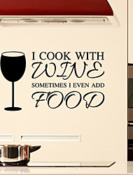 Wall Stickers Wall Decals Style Wine Glass Kitchen Decorative Waterproof PVC Wall Stickers