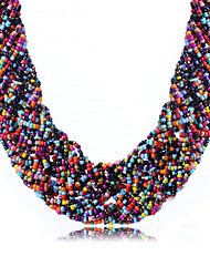 cheap -Women's Rhinestone Choker Necklace  -  Bohemian Fashion Green Pink Rainbow Necklace For Daily Casual