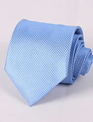 cheap -Men's Party/Evening Wedding Formal Pale Blue Grid Necktie #PT061