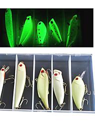 Недорогие -5 pcs Мормышки в наборах Рыболовная приманка Вибрация Мормышки в наборах Светящийся Тонущие Bass Форель щука Ужение на спиннинг Жесткие пластиковые