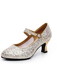 """cheap -Women's Modern Paillette Heels Outdoor Sequin Heel Silver Gold 2"""" - 2 3/4"""" Customizable"""