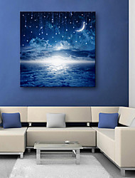 cheap -E-HOME® Stretched LED Canvas Print Art In Wonderland LED Flashing Optical Fiber Print
