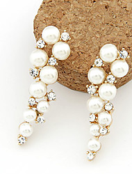cheap -Women's Pearl Imitation Pearl Rhinestone Imitation Diamond Drop Earrings - Fashion For Daily