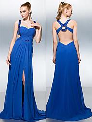preiswerte -A-line Straps Gericht Zug Georgette prom Kleid mit Perlen von ts couture®