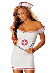 Nurse Career Costumes Cosplay Costumes Party Costume Female Halloween Christmas Carnival Festival/Holiday Halloween Costumes White Solid
