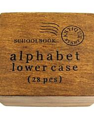 Недорогие -алфавит номер модели из дерева Набор марка