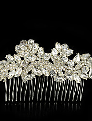 cheap -Gemstone & Crystal Tulle Alloy Hair Combs Headpiece with Crystal Feather 1 Wedding Special Occasion Event/Party Party / Evening Headpiece