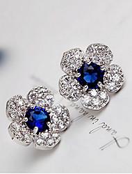 Stud Earrings Crystal Rhinestone Alloy Fashion Green Blue Jewelry 2pcs