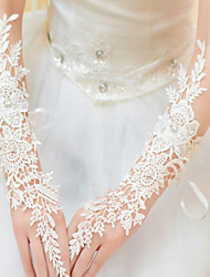 cheap -Lace Polyester Elbow Length Glove Classical Bridal Gloves Party/ Evening Gloves With Solid