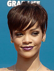 cheap -Short Human Hair Unprocessed Celebrity Style Virgin Remy Brazilian Hair Machine Made capless full lace wig