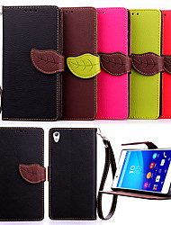 cheap -Case For Sony Xperia Z5 / Sony Xperia Z3 / Sony Xperia Z3 Compact Xperia Z5 / Xperia Z3 / Sony Case Wallet / Card Holder / with Stand Full Body Cases Solid Colored Hard PU Leather for Sony Xperia Z3