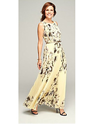 cheap -Women's Beach Sophisticated Swing Dress Pleated Print High Rise Maxi