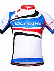 WOLFBIKE Cykeltrøje Herre Kortærmet Cykel basislagene Sweatshirt Træningsdragt Toppe Hurtigtørrende Åndbart Tilbage til lomme Polypropylen