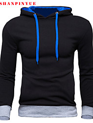 cheap -Men's Hoodie - Solid Colored, Sporty