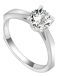 cheap -Women's Band Ring - Zircon Fashion 6 / 7 / 8 White For Wedding / Party / Daily / Casual / Sports