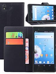 личи вокруг открытой кронштейн кожа телефона бумажника карточку подходит для Sony Xperia Z / l36h (ассорти цветов)