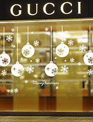cheap -Wall Stickers Wall Decals Style Snowflakes Light PVC Wall Stickers