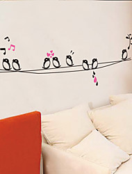 cheap -Animals Music Cartoon Wall Stickers Animal Wall Stickers Decorative Wall Stickers, Vinyl Home Decoration Wall Decal Wall