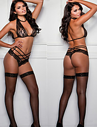 cheap -Blick Women Sexy Bra & Panties Set