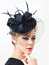 cheap -Gemstone & Crystal / Feather / Net Fascinators / Headpiece with Crystal 1 Wedding / Special Occasion / Party / Evening Headpiece