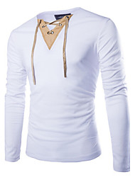 cheap -Men's Classic & Timeless T-shirt - Solid Colored, Formal Style