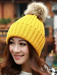 Women Candy Color Hat Edge Earmuffs Hat