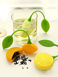 cheap -Teapot Herb Orange Lemon Shape Tea Strainer Filter Infuser Bag