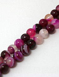 cheap -Beadia 39Cm/Str (Approx 62PCS) Natural Agate Beads 6mm Round Dyed Fuchsia Color Stone Loose Beads DIY Accessories