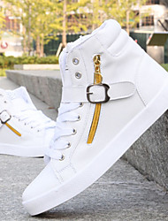 economico -Per uomo Scarpe Finta pelle Inverno Scarpe Vulcanizzate Comoda per Casual Nero Bianco