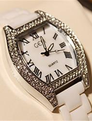Damen Modeuhr Quartz Band Weiß Silber Silber Golden Zufällige Farben