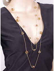 cheap -Fashion Vintage Gold Plated Long Chain Zirconia Necklace/Earrings Sets