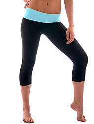 Mulheres Cintura Média Com Stretch Jeans Calças, Algodão Verão Sólido