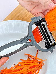 cheap -Multifunctional 360 Degree Rotary Potato Peeler Vegetable Cutter Fruit Melon Planer Grater with 3 Blades