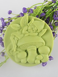 Mushroom Spirit Shaped Soap Mold Mooncake Mould Fondant Cake Chocolate Silicone Mold, Decoration Tools Bakeware
