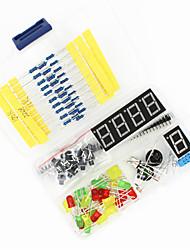 baratos -kit de componentes DIY universal definido para arduino - preto + azul + multicolor