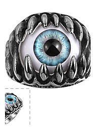cheap -Men's Ring - Stainless Steel Evil Eye Punk 8 / 9 / 10 Black For Casual
