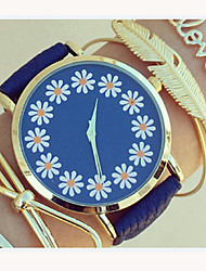 Women's Lovely Floral Watch,Floral Pattern,Women's Watch,Analog,Students Flower Watch Wristwatch Cool Watches Unique Watches Fashion Watch Strap Watch