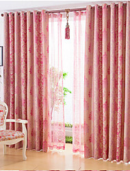 cheap -Two Panels European Contracted High-grade Flax Reactive Dyeing Shading Curtains